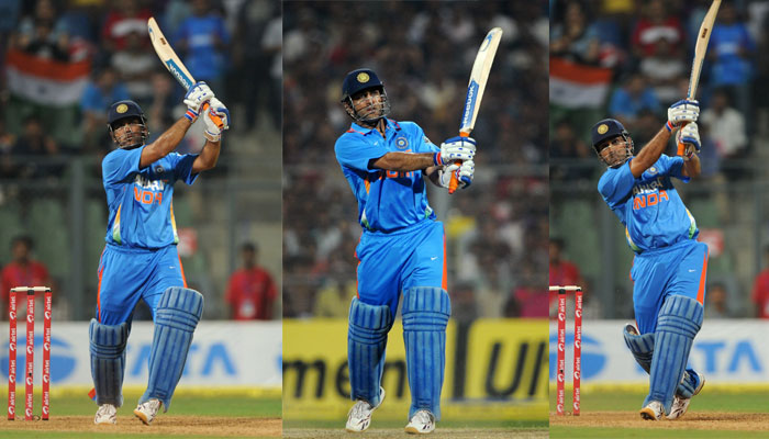 Helicopter shot – MS Dhoni