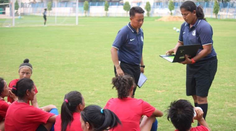 indian womens football team practice