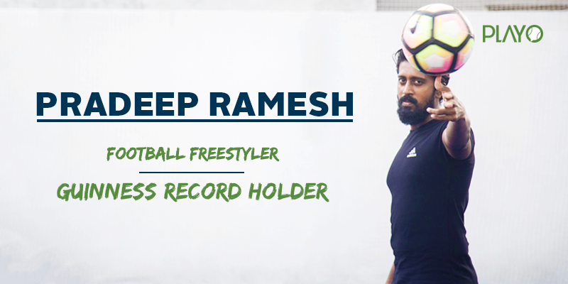 Guiness record holder Pradeep Ramesh Freestyle Football