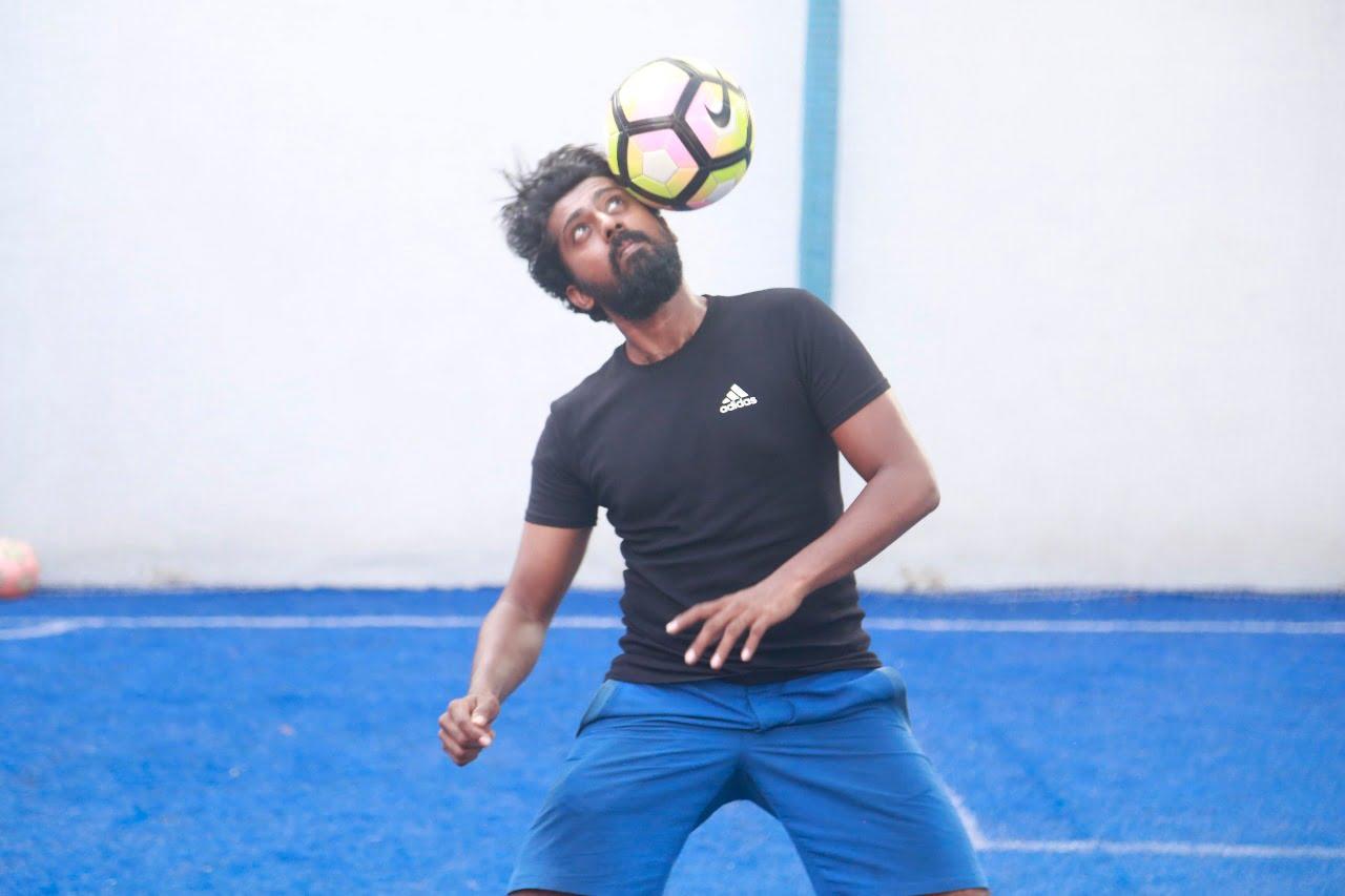 pradeep ramesh head juggling