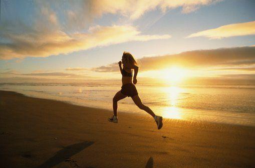 taking a run