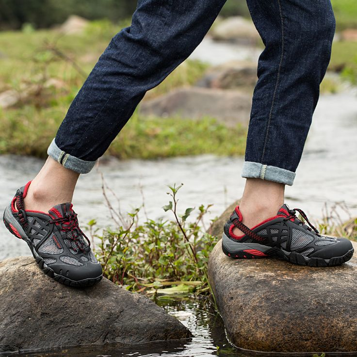 walk using river shoes
