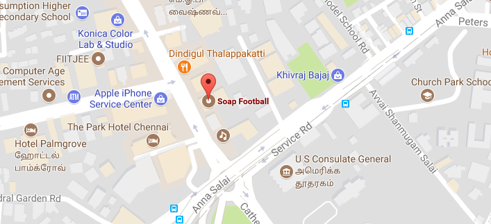 soap football chennai