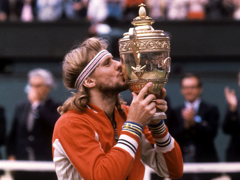Borg kissing trophy