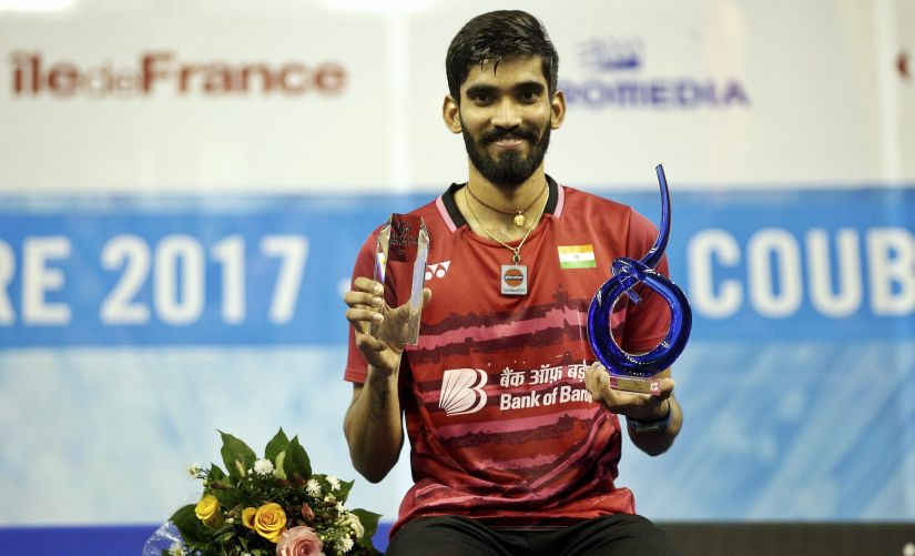 kidambi srikanth with the french open trophy