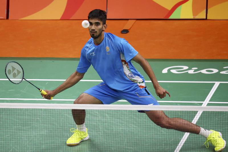 Srikanth at the rio olympics 2016