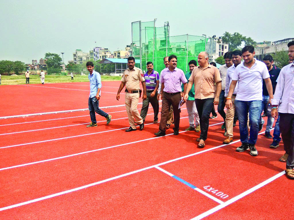east vinod nagar athletic track