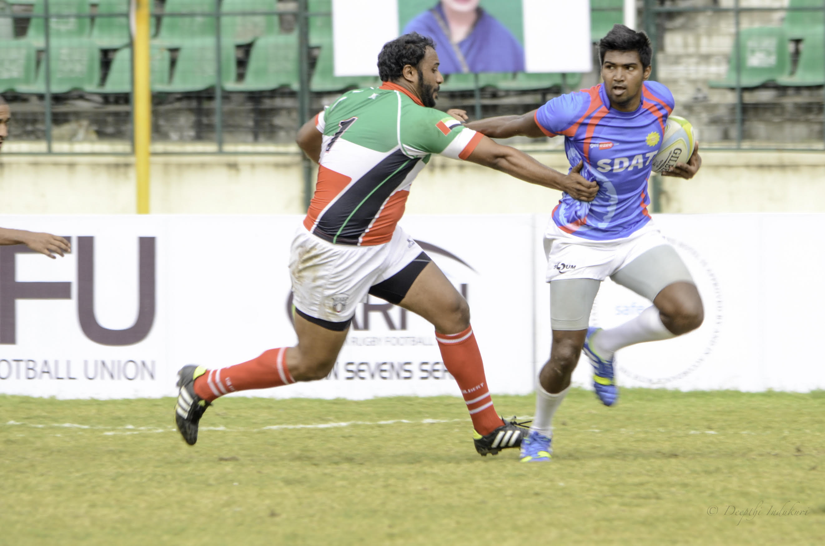 roshan handling a tackle
