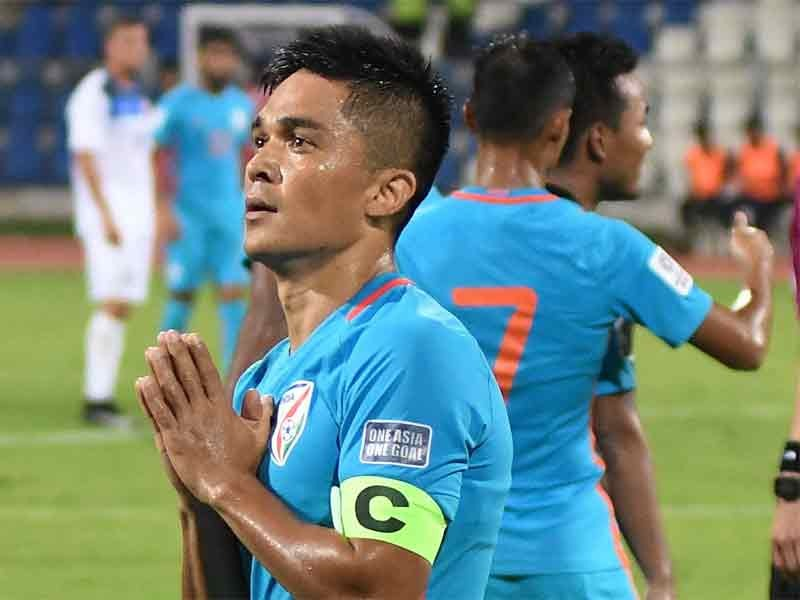 sunil chhetri playing for india