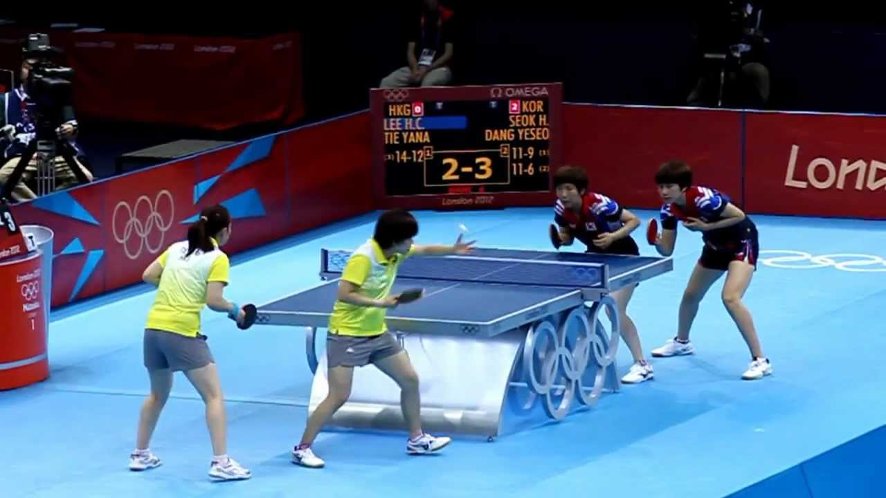 table tennis doubles serve