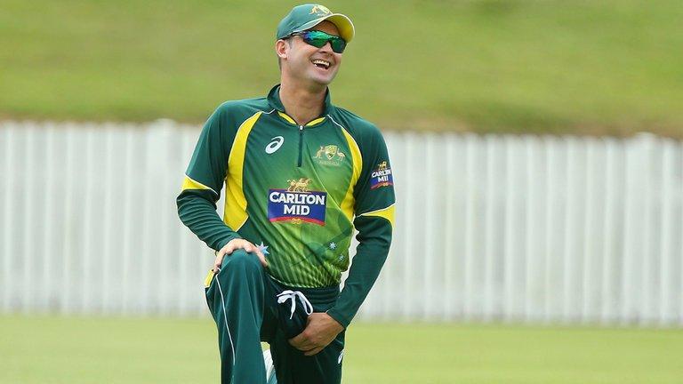 Michale Clarke Cricket Warm-Up Hamstring