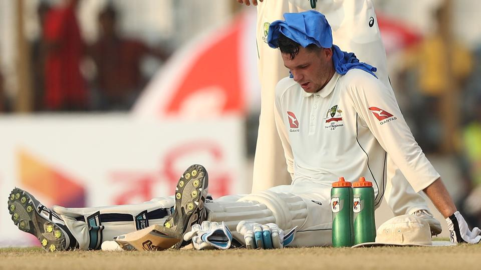 Peter Handscomb- cricket warm up