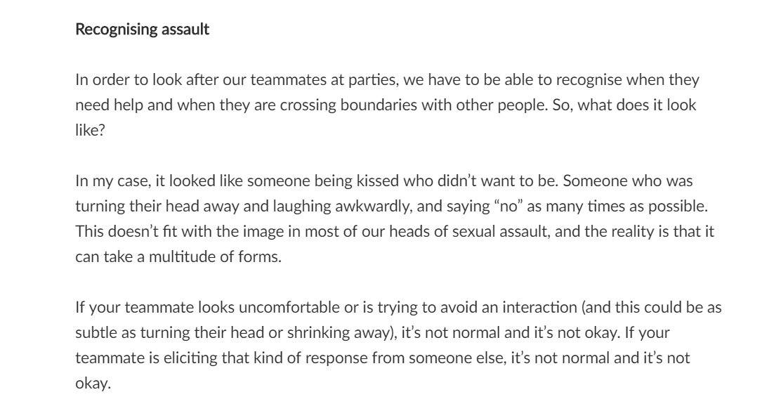 Sophie Taylor talking about consent in her blog on Inside Out Ultimate