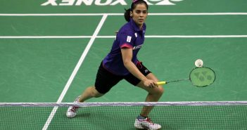 Saina playing the deceptive shot