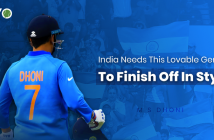 MS Dhoni walks away