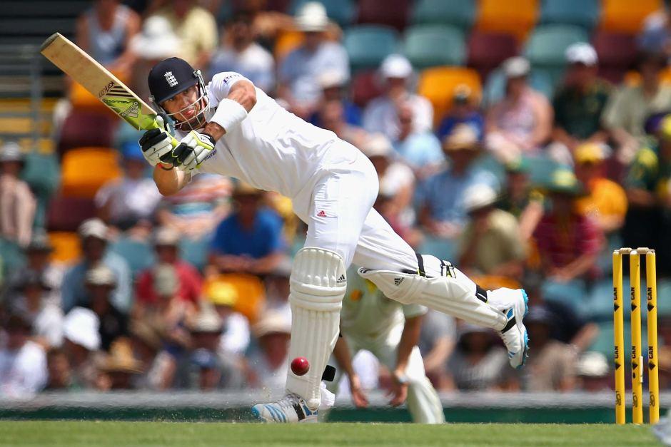 A batsman batting