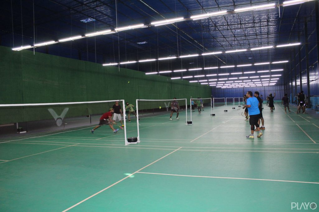 Badminton courts in Orchid Sports Academy