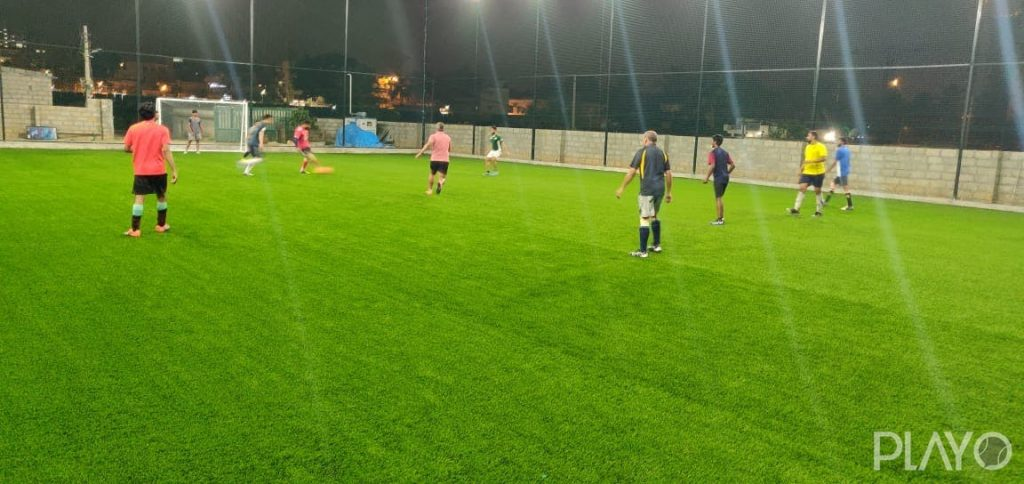 A football ground in Ahalya Sports