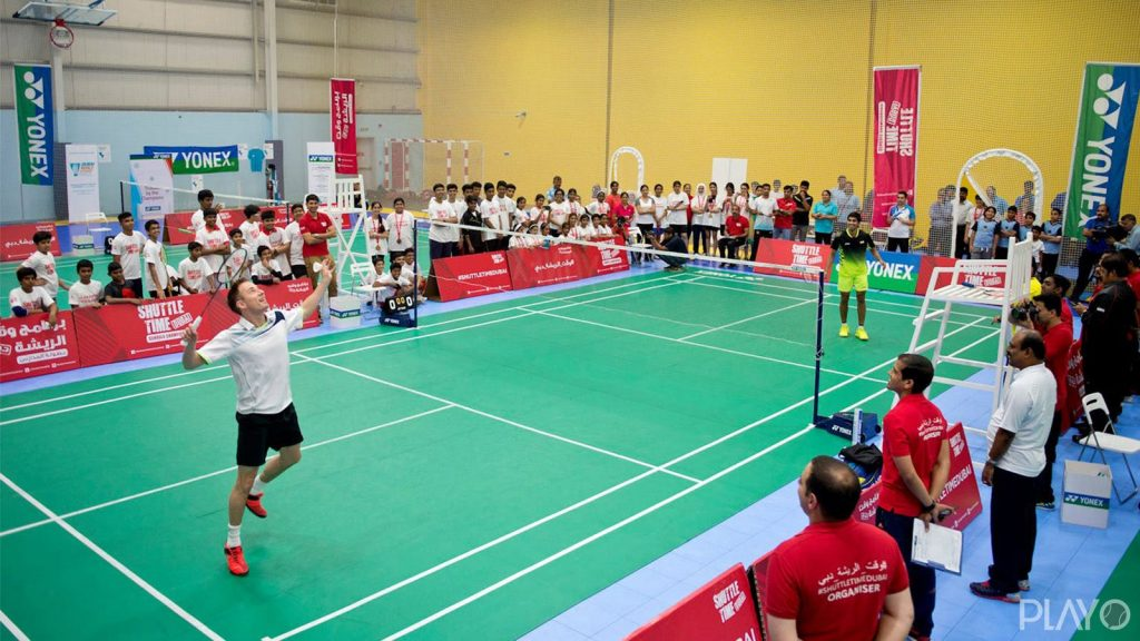 Badminton court in Dubai Stars