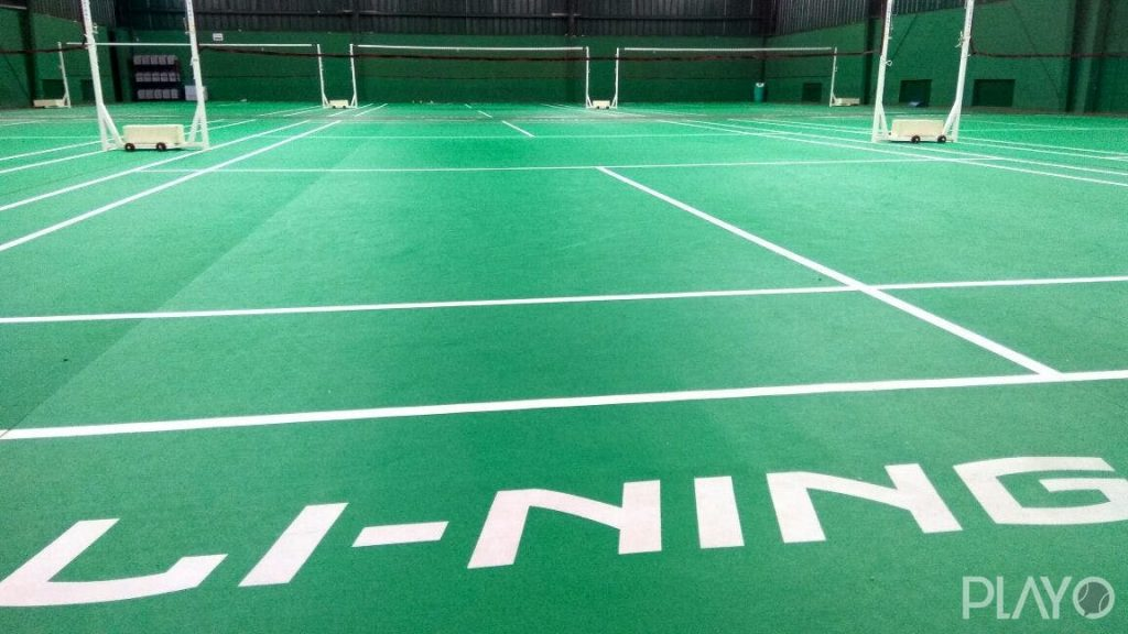 Badminton court at Sports Central