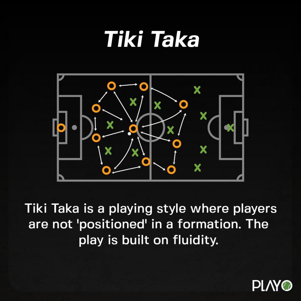 Tiki Taka style of playing.