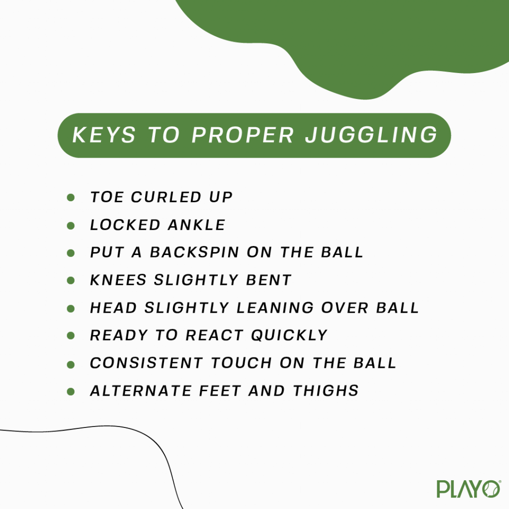 Keys to proper Football Juggling