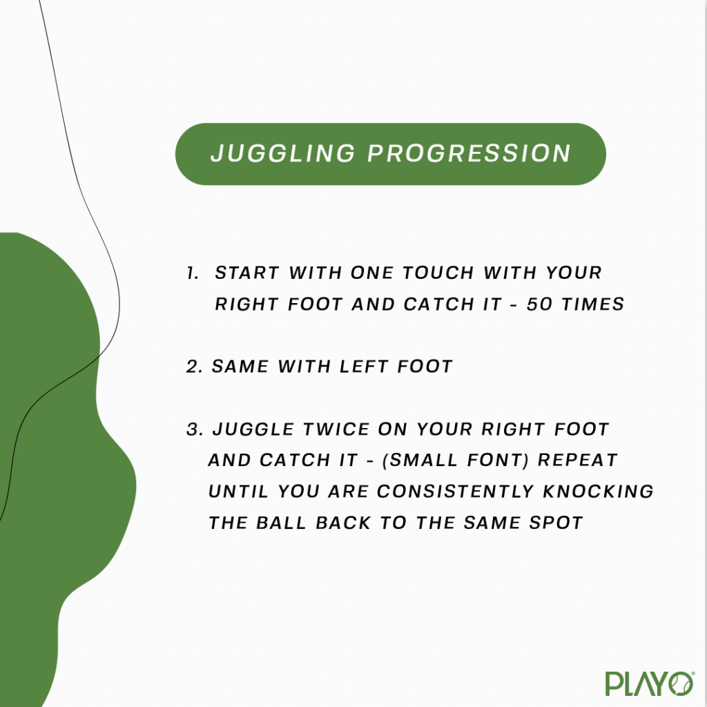 Football Juggling progression