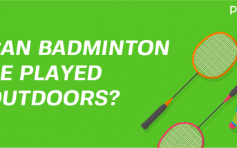 play Badminton outdoors